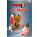 Mäusefamilie Bastelset, Bastelmaterial Zellwolle