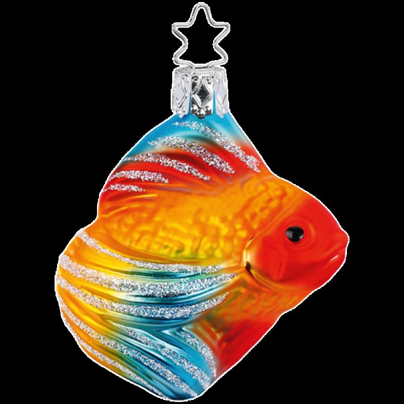 Schleierfisch 7cm Inge-Glas® und Weihnachtsschmuck