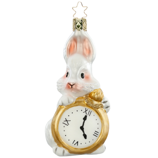 verspäteter Hase 11,5cm crazy tea party Inge-Glas®Schmuck