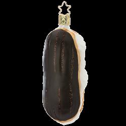 Eclair 11cm french coffee Inge-Glas® Schmuck Weihnachtsschmuck