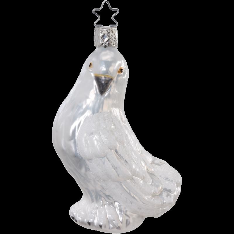 Friedenstaube 11cm Inge-Glas® Weihnachtsschmuck