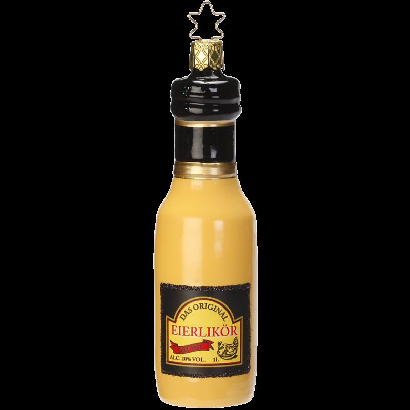 Eierlikör Flasche 12,5cm Inge-Glas® Schmuck Weihnachtsschmuck
