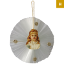 Nostalgischer Stern Ø12,5cm mit Oblate Old Christmas Christbaumschmuck