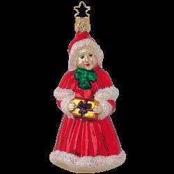 Mrs. Santa Claus 14cm Old Christmas Inge-Glas Weihnachtsschmuck