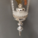 Ballon mit Engels Oblate silber weiß ca. 75cm / Ø 15cm Weihnachtsschmuck Lauschaer Glas
