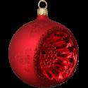 Reflexkugel rot seidenmatt Ø8-10cm Thüringer Glas Weihnachtsschmuck