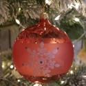 Weihnachtskugel hummer orange Ø8cm Thüringer Glas Weihnachtsschmuck
