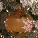Weihnachtskugel gold transparent Ø8cm Thüringer Glas Weihnachtsschmuck