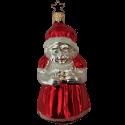 Mrs. Claus, Santas Frau 10cm Old Christmas Inge-Glas Weihnachtsschmuck