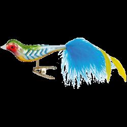 Regenbogenfink Glasvogel 10cm Inge-Glas® Weihnachtsschmuck