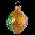 Kugelfisch 5,5cm Thüringer grün/gold Glas Schatzhauser Weihnachtsschmuck