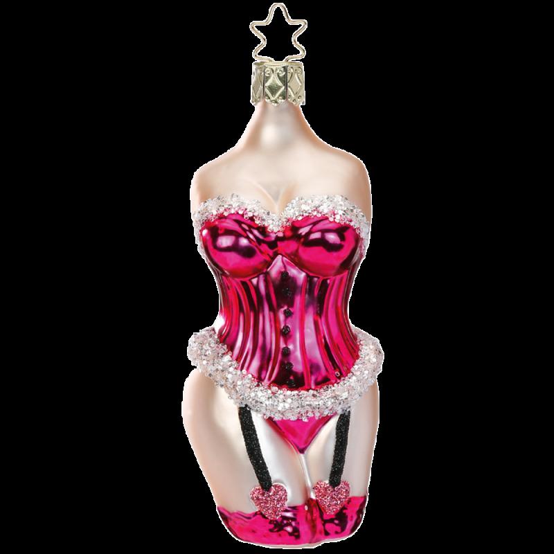 Hello Beauty Pink Lady 12cm Inge-Glas® Weihnachtsschmuck