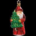 Santa auf dem Heimweg 13cm Inge-Glas® Schmuck Christbaumschmuck