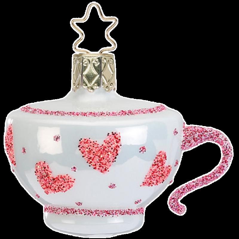 verrückte Tasse zum Tee 5cm crazy tea party Inge-Glas®Schmuck