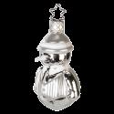 Schneemann silber 8cm Inge-Glas® Weihnachtsträume