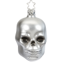Totenkopf silber 7,5cm Inge-Glas Manufaktur Weihnachtsschmuck