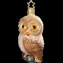 Woodland Eule Glasvogel 10cm Inge-Glas® Weihnachtsschmuck