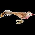 Rotfink Glasvogel 10,5cm Inge-Glas® Winter Woodland Weihnachtsschmuck