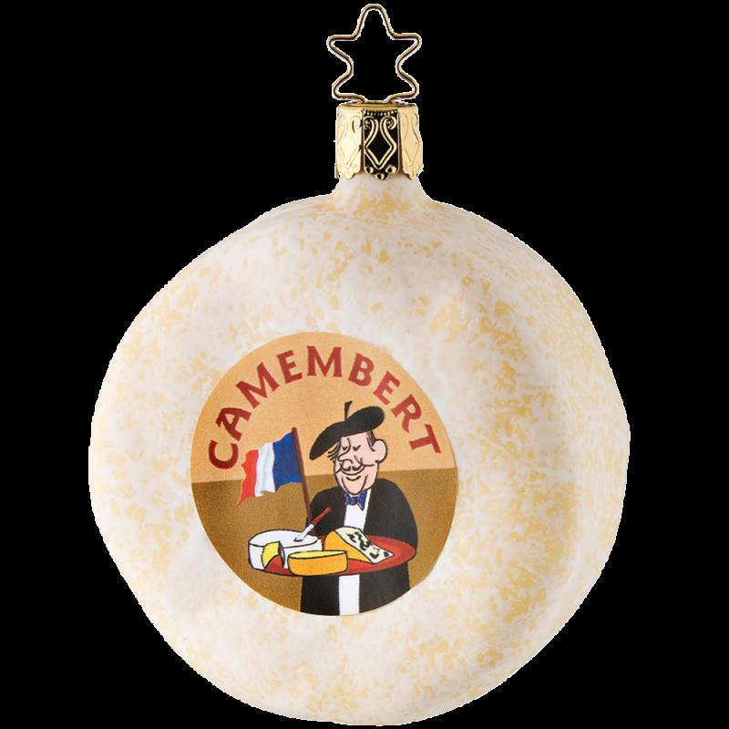 Camembert 8,5cm Inge-Glas® Köstlichkeiten Weihnachtsschmuck