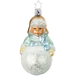 Simons Schneeball 10,5cm Inge-Glas Manufaktur Silent Home Weihnachtsschmuck