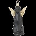 Panther Engel 12,5cm schwarz crazy Nouveau Inge-Glas®Schmuck