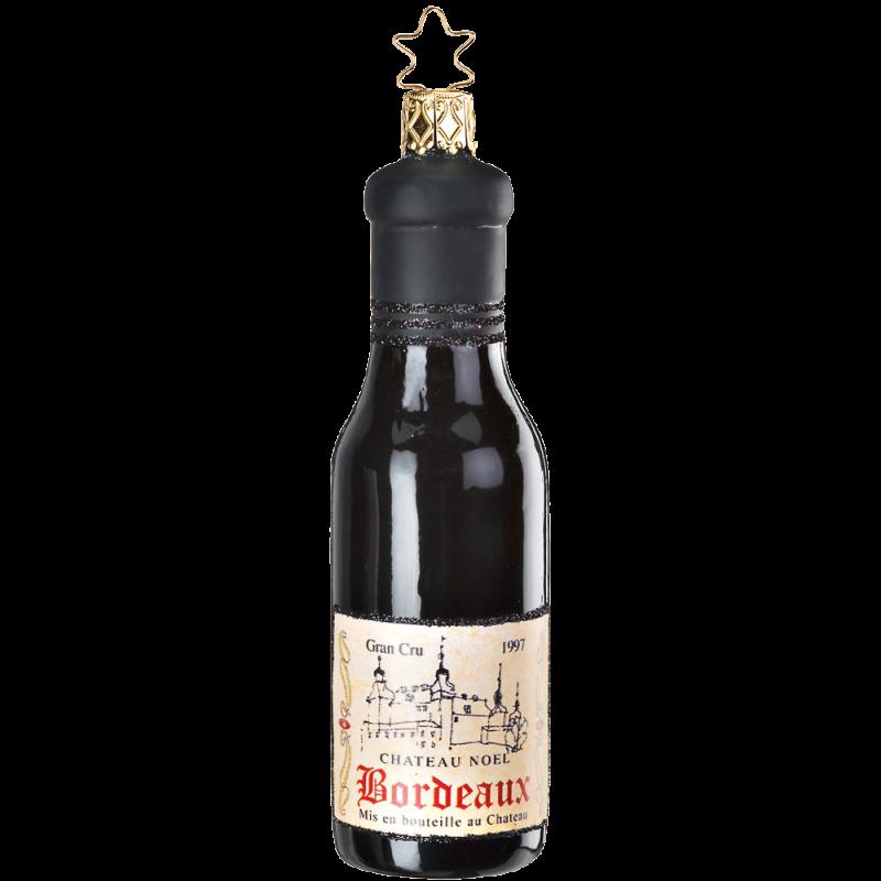 Bordeaux Flasche 12,5cm Inge-Glas® Köstlicher Weihnachtsschmuck