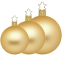 Christbaumkugeln gold, inkagold matt Ø 4cm - Ø 12cm Inge-Glas® Manufaktur Weihnachtskugeln