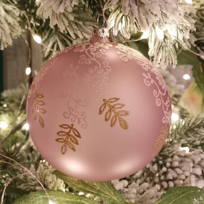 Weihnachtskugel hellviolett Ø 10cm matt Thüringer Glas Weihnachtsschmuck