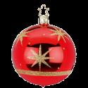 Christbaumkugel Sternenklar rot glänzend Ø 8 / 10cm Inge-Glas Weihnachtsschmuck