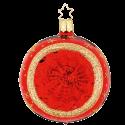 Reflex Christbaumkugel Sternenhimmel Ø 8-10cm rot glanz Inge-Glas® Christbaumschmuck