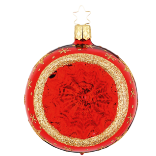 Reflex Christbaumkugel Night Sky Ø 8-10cm rot glanz Inge-Glas® Christbaumschmuck