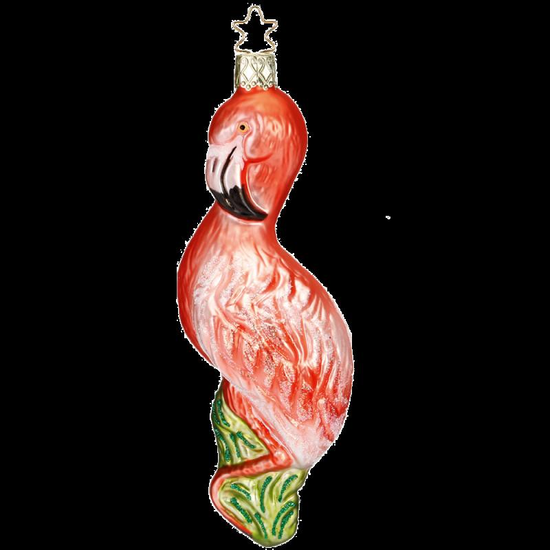 Flamingo 15,5cm Vogel Inge-Glas® Weihnachtsschmuck
