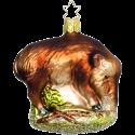 Wildschwein 8,5cm Inge-Glas® Weihnachtsschmuck aus der Tierwelt