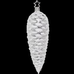 Tannenzapfen 19cm silber Inge-Glas Christbaumschmuck