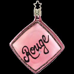 Hello Beauty Powder Rouge 10cm Inge-Glas® Weihnachtsschmuck