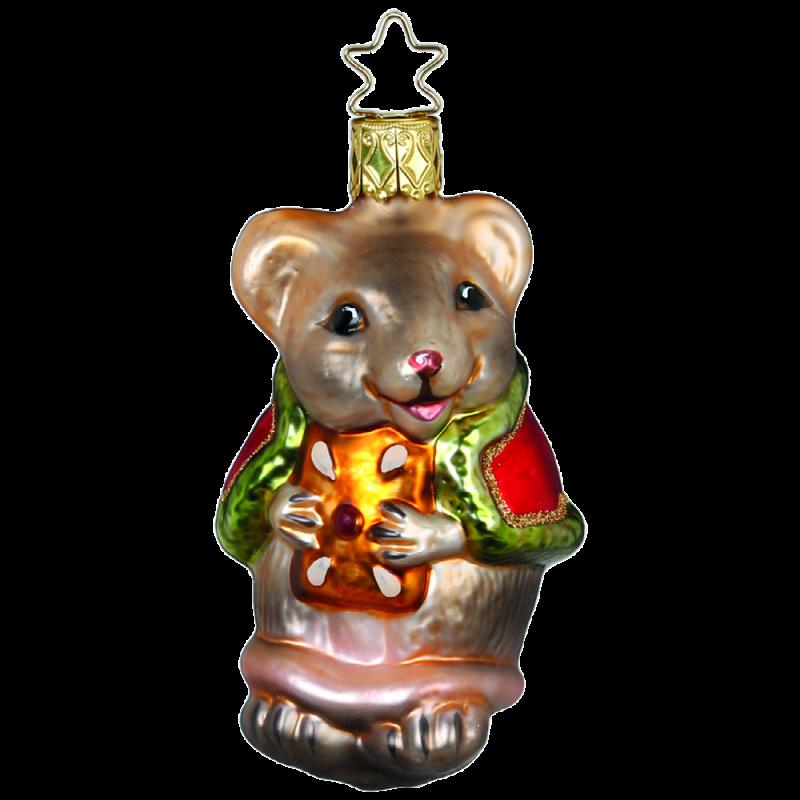 Weihnachtsmaus 8,5cm Inge-Glas® Weihnachtsschmuck