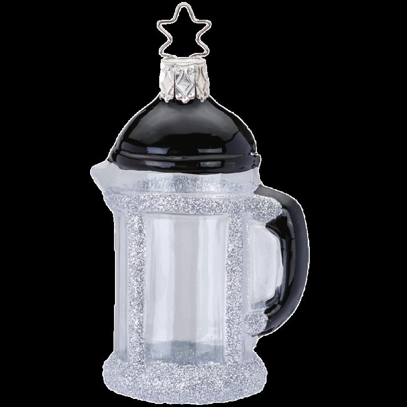 French Press 8cm Inge-Glas® Weihnachtsschmuck
