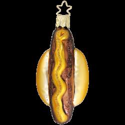 Leckere Bratwurst, Roster 8cm Inge-Glas® Köstlichkeiten Weihnachtsschmuck