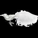 Silver Bird 11cm Vogel Inge-Glas® Weihnachtsschmuck