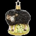 schwarzes Schaf 8,5cm beige Inge-Glas® Manufaktur Weihnachtsschmuck