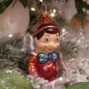Pinocchio 10cm rot/orange Schatzhauser Glas und Weihnachtsschmuck