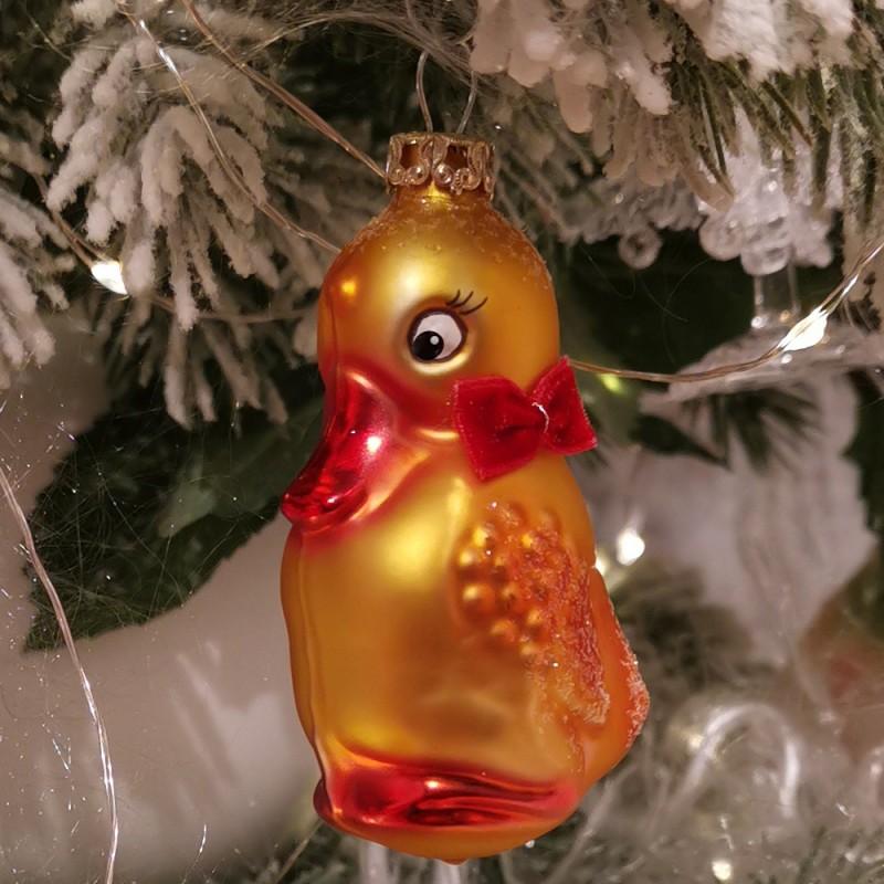 Schnatterinchen 7cm Schatzhauser Glas und Weihnachtsschmuck