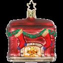 Kamin, Weihnachtskamin 7,5cm Inge-Glas® Weihnachtsschmuck