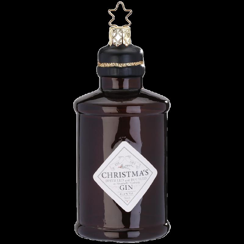 Gin Flasche 10,5cm Inge-Glas® Weihnachtsschmuck