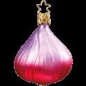 Rote Zwiebel 7cm Inge-Glas® Weihnachtsschmuck