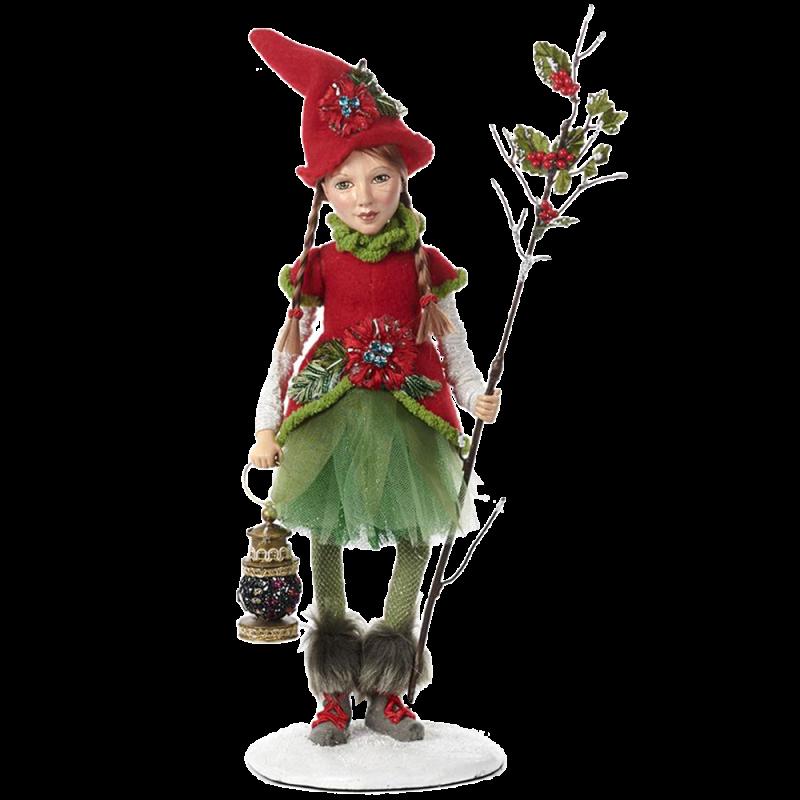 Waldelf Mädchen mit Iloxstab 39cm Katherine's Collection