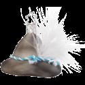 Bayerischer Hut 5,5cm Bayerische Weihnacht schönes Bayern Inge-Glas® Manufaktur Glasschmuck