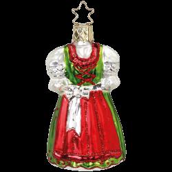 Dirndl Festtracht bayerische Weihnacht 9cm Inge-Glas® Weihnachtsschmuck
