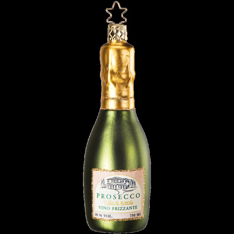 Prosecco 12,5cm Inge-Glas® Köstlichkeiten Weihnachtsschmuck