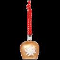 Edelweißglocke bayerische Weihnacht 13cm Inge-Glas® Weihnachtsschmuck